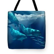 Dolphin World Tote Bag by Corey Ford