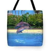 Dolphins Dance Tote Bag