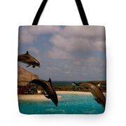 Dolphins Fly Tote Bag