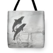 Dolphins Of The Sea Tote Bag