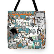 Dolphins Ring Of Honor Tote Bag by Gary Niles