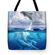 Dolphonic Symphony Tote Bag