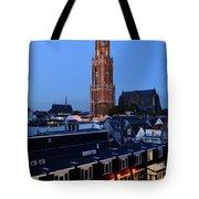 Dom Tower In Utrecht At Dusk 24 Tote Bag