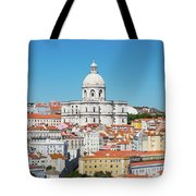 Dome Of Gothic Church In Lisbon Tote Bag