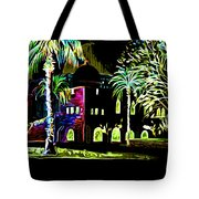 Dome Of The Rock At Night Tote Bag