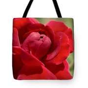 Dominica Red Rose Tote Bag