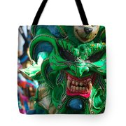 Dominican Republic Carnival Parade Green Devil Mask Tote Bag