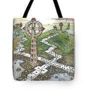 Domino Crosses Tote Bag