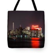 Domino On The Bay Tote Bag