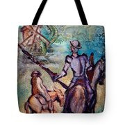Don Quixote With Dragon Tote Bag