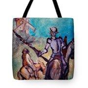 Don Quixote With Windmill Tote Bag
