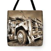 Done Hauling - Sepia Tote Bag