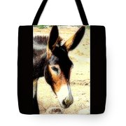 A Donkey Doesn't Need A Rider To Be Happy   Tote Bag