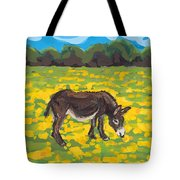 Donkey And Buttercup Field Tote Bag
