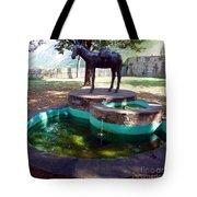 Donkey Fountain Tote Bag