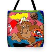 Donkey Kong Arcade Game Art Tote Bag
