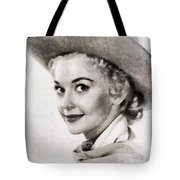 Donna Douglas, Vintage Actress By John Springfield Tote Bag