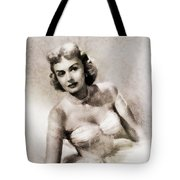 Donna Reed, Vintage Actress By John Springfield Tote Bag