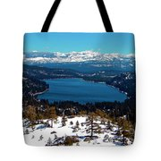Donner Lake Sierra Nevadas Tote Bag