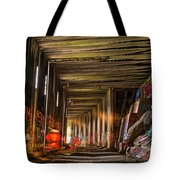 Donner Snow Sheds 8 - Ghosting Tote Bag by Jim Thompson