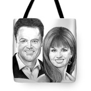 Donnie And Marie Osmond Tote Bag