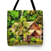 Donnie Isaacs - Beautiful Green Trees House Nature Landscape  Tote Bag