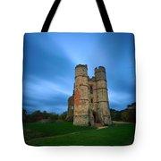 Donnington Castle At Dusk Tote Bag