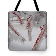 Don't Break My Heart-unique And Rare Formation Of Spiked Snow Icicles  Tote Bag