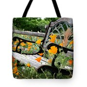 Don't Sit On The Poppies Tote Bag