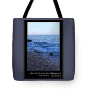 Don't Wait For Your Ship To Come In, Swim Out To It Tote Bag