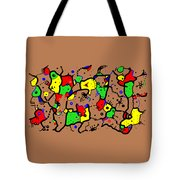 Doodle Abstract Tote Bag