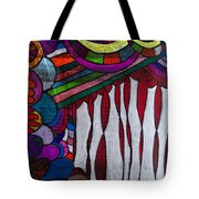 Doodle Page 6 - Bones And Curtains - Ink Abstract Tote Bag
