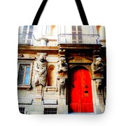 Door To Milan Tote Bag by Michelle Dallocchio