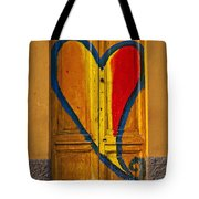 Door With Heart Tote Bag by Joana Kruse