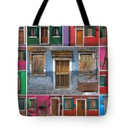 doors and windows of Burano - Venice Tote Bag