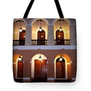 Doors Of San Juan Square Tote Bag