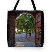 Doorway And Arch Between Gardens Tote Bag