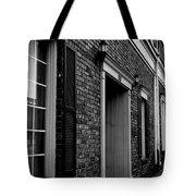 Doorway Black And White Tote Bag