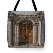 Doorway Of The Santa Teresa De Jesus Church Tote Bag