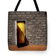 Doorway To A Yellow Curtain Tote Bag