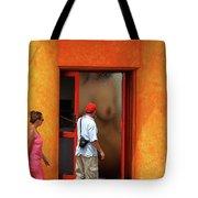 Doorway Undressing Tote Bag by Harry Spitz