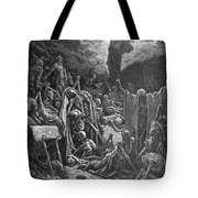 Dor�: Valley Of Dry Bones Tote Bag by Granger