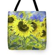 Dordogne Sunflowers Tote Bag