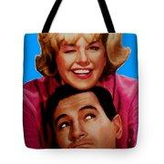 Doris Day Rock Hudson Tote Bag by Paul Van Scott