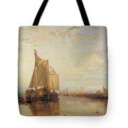 Dort Or Dordrecht The Dort Packet Boat From Rotterdam Becalmed Tote Bag