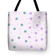 Dots In Dots Tote Bag