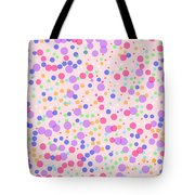 Dots On Pink Background Tote Bag