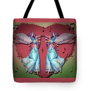 Double Angel Tote Bag
