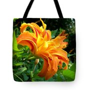 Double Blossom Orange Lily Tote Bag