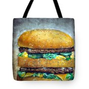 Double Burger To Go Tote Bag